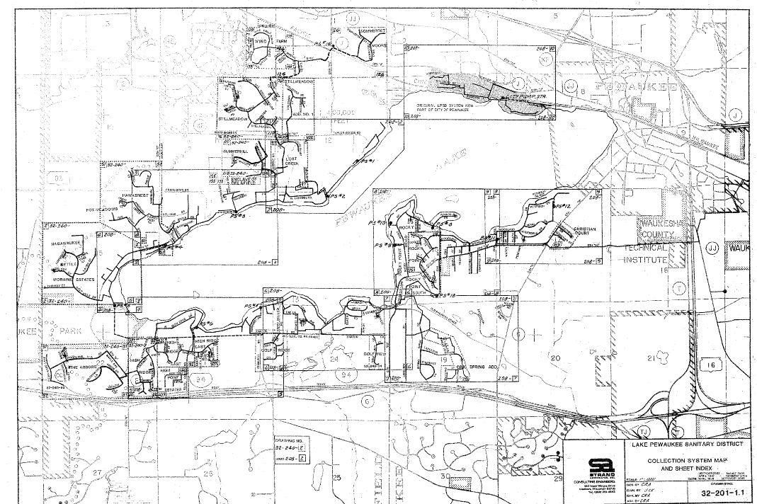 Sewer System Lake Pewaukee Sanitary District
